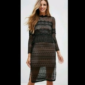 French Connection ~ Petra Lace Beau Midi Dress